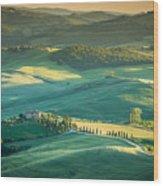 Tuscany Sunset Wood Print