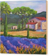Tuscany Villa Wood Print