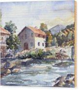 Tuscany Village Wood Print