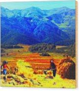 Tusheti Hay Makers IIi Wood Print