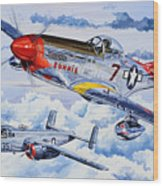 Tuskegee Airman Wood Print