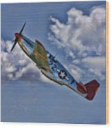 Tuskegee Mustang Red Tail Wood Print