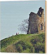 Tutbury Castle Ruins Wood Print
