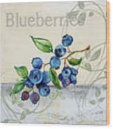 Tutti Fruiti Blueberries Wood Print
