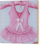 Tutu With Ribbon Wood Print