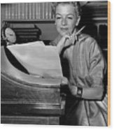 Tv And Big Screen Actress, Betty Furness. 1956 Wood Print