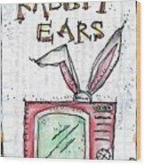 Tv And Rabbit Ears Wood Print