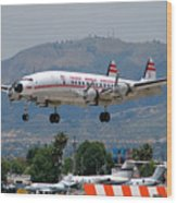 Twa Lockheed Super Constellation N6937c Wood Print
