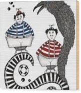 Tweedle-dee Tweedle-dum Wood Print