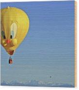 Tweety Balloon Wood Print