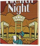 Twelfth Night Poster Wood Print