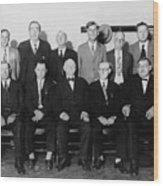 Twelve-man Jury That Convicted Al Wood Print by Everett