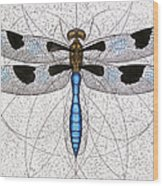 Twelve Spotted Skimmer Wood Print by Charles Harden