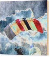 Twenty-first Century Icarus Wood Print