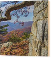 Twenty Minute Cliff Blue Ridge Parkway I Wood Print