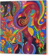 Serpent Descending Wood Print