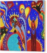 Angel Fire Wood Print