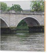Twickenham Bridge Spans The Thames Wood Print