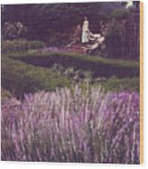 Twilight Among The Lavender Wood Print