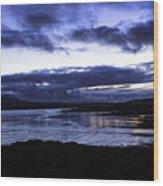 Twilight At Loch Bracadale Wood Print