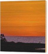 Twilight At Pamlico Sound Wood Print
