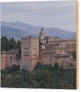 Twilight At The Alhambra Wood Print