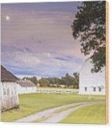Twilight Barn - Winneconnie Wood Print