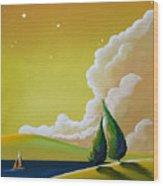 Twilight Bay Wood Print