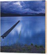 Twilight Blue Wood Print