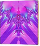 Twilight Descending Fractal Wood Print