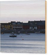 Twilight In The Harbor At Skerries Wood Print