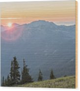 Twilight Is Coming Wood Print