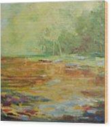 Twilight Lake Wood Print