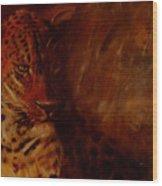Twilight Leopard Wood Print