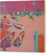 Twilight On Menemsha Wood Print