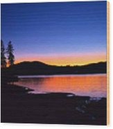 Twilight On Toxaway Wood Print