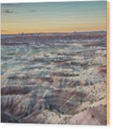 Twilight Over The Painted Desert Wood Print