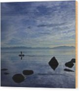 Twilight Paddle  Wood Print