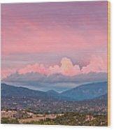 Twilight Panorama Of Sangre De Cristo Mountains And Santa Fe - New Mexico Land Of Enchantment Wood Print