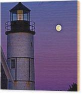 Twilight Sandy Neck Wood Print