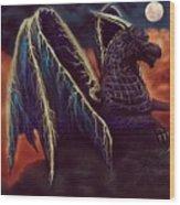 Twilight Storm Dragon Wood Print