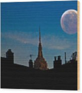 Twilight Time In The City Wood Print