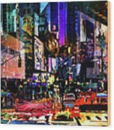 Twilight Zone Hustle Bustle Wood Print