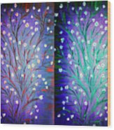 Twin Beauty-2 Wood Print by Karunita Kapoor