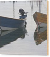 Twin Boats Wood Print