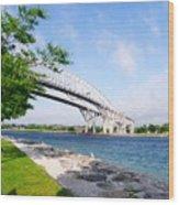 Twin Bridges Wood Print