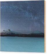Twin Eruption Wood Print