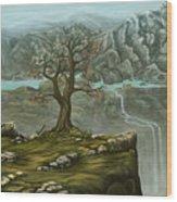 Twin Falls Kingdom Wood Print