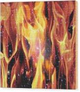 Twin Flames Wood Print