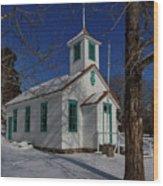 Twin Lakes School District No. 009 Established 1895 Wood Print